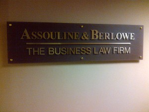 Miami Litigation Law Firm Sign - Assouline   Berlowe (00104683)