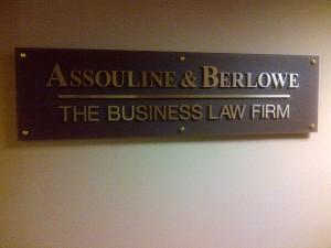 Miami Litigation Law Firm Sign - Assouline   Berlowe (00104683)