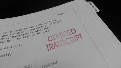 Certified Deposition Transcript